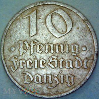 Wolne m. Gdańsk-10fenigów gdańskich 1932r(1)