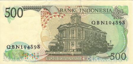 INDONEZJA 500 RUPII 1988
