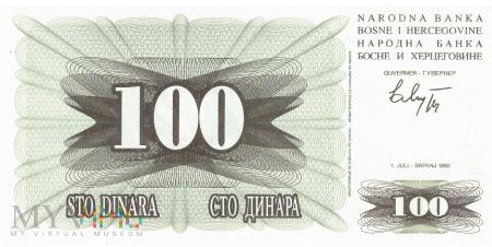 Bośnia i Hercegowina - 100 dinarów (1992)