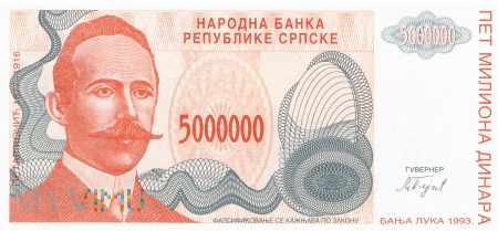 Bośnia i Hercegowina - 5 000 000 dinarów (1993)