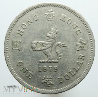 Duże zdjęcie Hong Kong 1 dolar 1979