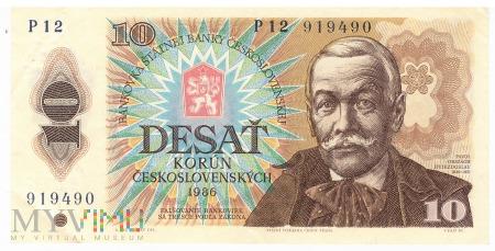 Czechosłowacja - 10 koron (1986)