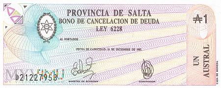 Argentyna (Salta) - 1 austral (1986)
