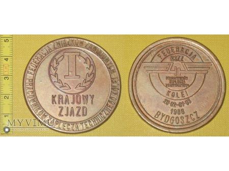 Duże zdjęcie Medal kolejowy - związkowy NSZZ PZTK