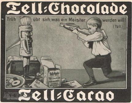 1910 reklama czekolady