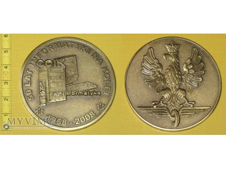 Medal kolejowy - firmowy PKP Informatyka