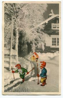 Szwecja Życzenia Święta Nowy Rok Krasnale