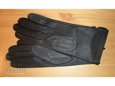 Rękawice skórzane czarne letnie