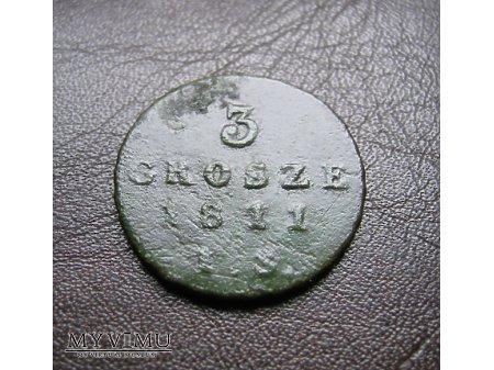 3 grosze 1811 Księstwo Warszawskie