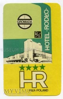 Nalepka hotelowa - Piła - Hotel Rodło