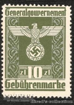 Gebührenmarke 10 złotych