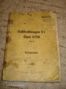 Katalog Części Opel Blitz 3,6-6700A 4x4