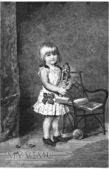 1887r. drzeworyt Dziewczynka i dziadek do orzechów