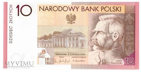 Polska - 10 złotych (2008)