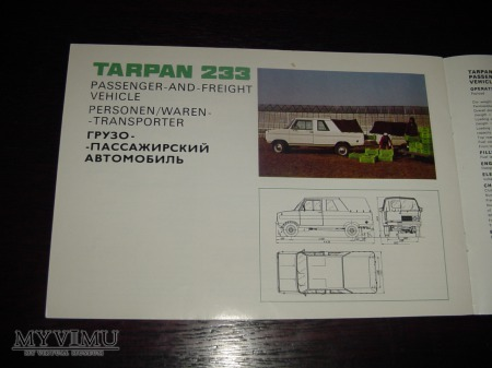 Prospekt TARPAN 233