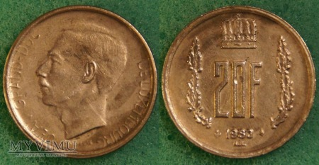 Luksemburg, 20 Francs 1980