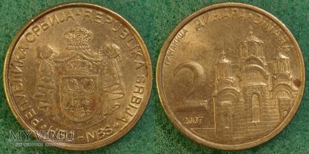 Serbia, 2 dinara 2007