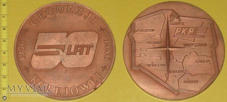 Medal kolejowy - firmowy Geodezji Kolejowej