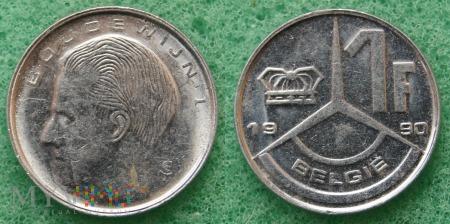 Belgia, 1 Franc 1990