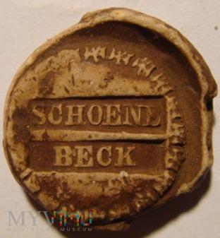 Duże zdjęcie Plomba SCHOENE BECK z monogramem FWR
