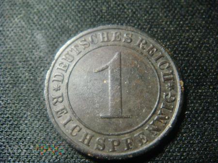 1 Pfennig 1924 A Republika Weimarska