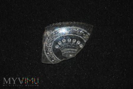 Fragment szklanego pojemnika , półmiska