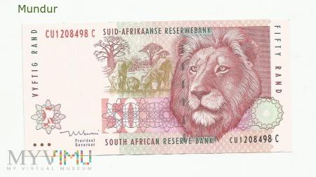 Banknot południowoafrykański: 50 rand