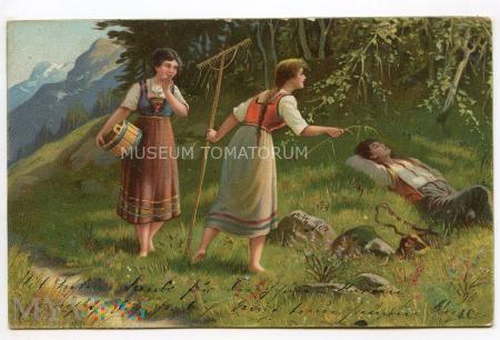 Wiejskie zaloty - 1909