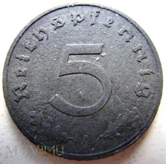 Duże zdjęcie 5 reichspfennigów 1940 r Niemcy (Trzecia Rzesza)