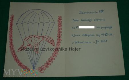 Zaproszenie na Przysięgę JW 2457 Bolesławiec