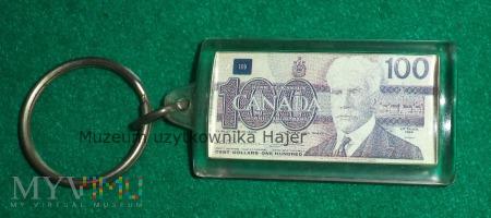 100 Dolarów Kanada - brelok