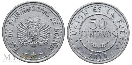 Boliwia, 50 CENTAVOS 2010