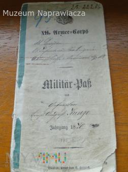 Militar-pass 1870r.