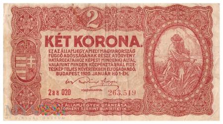 Węgry - 2 korony (1920)