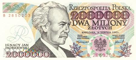 Polska - 2 000 000 złotych (1992)