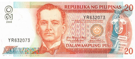 Filipiny - 20 pesos (2008)