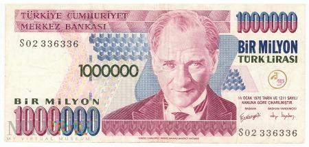 Turcja - 1 000 000 lir (2006)