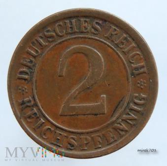 2 Reichspfennig 1924 G