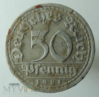 50 fenigów 1921 A, 50 pfennig