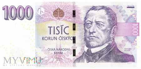 Czechy - 1 000 koron (2008)