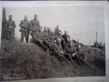 Niemieccy żolnierze podczas przerwy