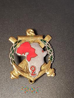 Odznaka 2-go Pułku Artylerii Morskiej - Francja