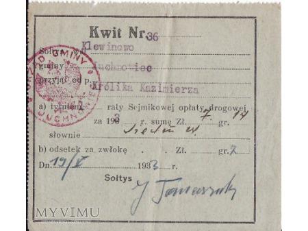 Kwit - Klewinowo 1933.