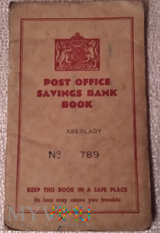 Książeczka Oszczędnościowa zał.w Anglii-1942r.