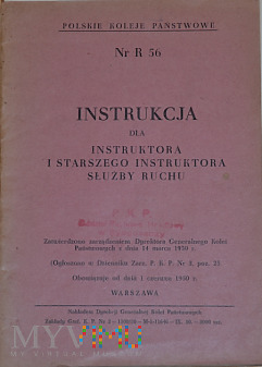 R56-1950 Instrukcja dla instruktorów służby ruchu