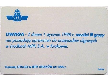 Bilet MPK Kraków 71