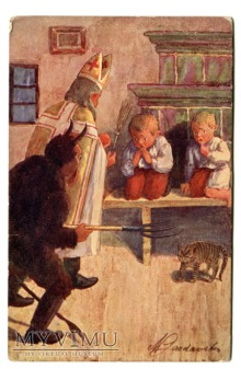 Krampus i St. Nicholas Marie Gardavské