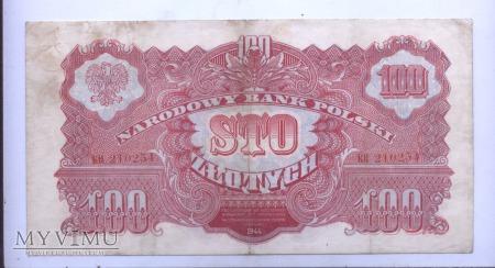 """100 złotych - 1944 (""""obowiązkowe"""")"""
