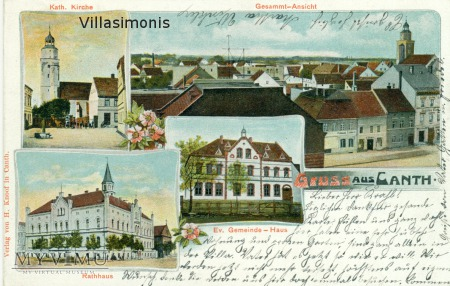 Litografia barwna z 1903 roku Gruss aus Canth