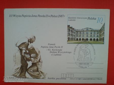 Papież Jan Paweł II wizyta w Polsce 1987 KUL
